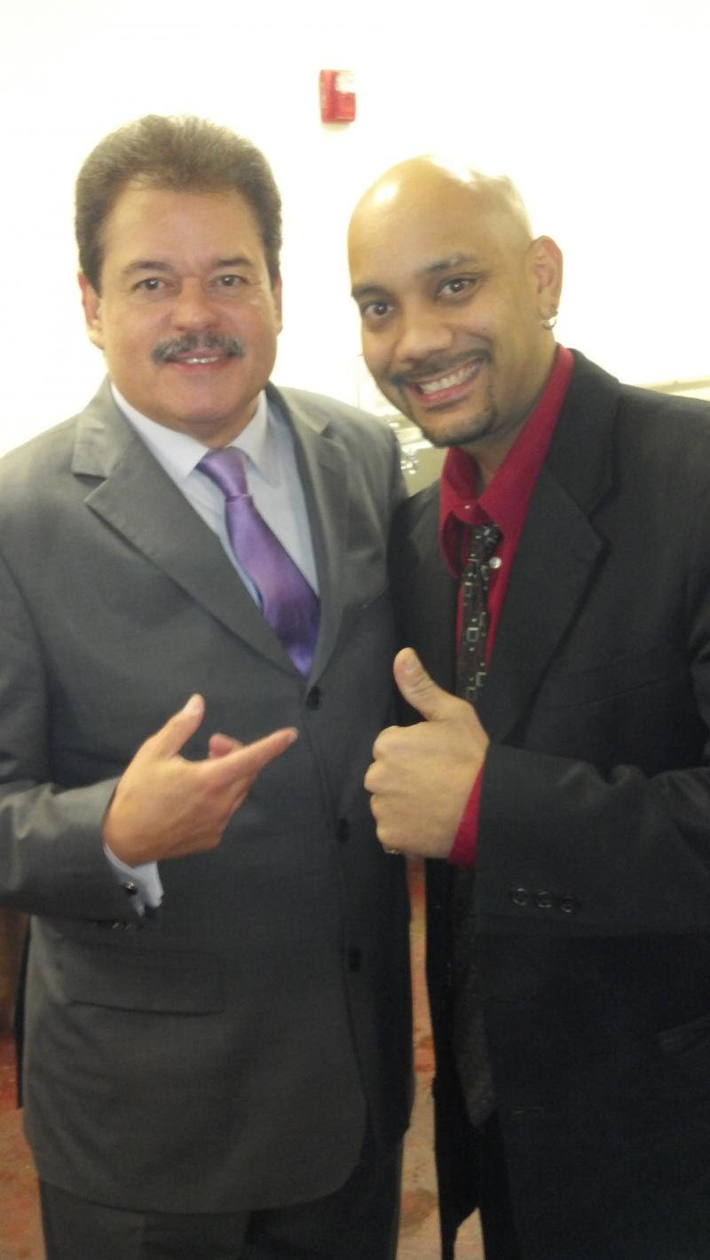 With the all time salsa great, Lalo Rodriguez, at a performance I did with him.