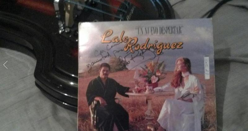 Lalo Rodiguez most popular album, and I had the pleasure of him signing it for m
